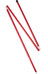 MSR Adjustable Pole 8 FT 208-259 cm Red